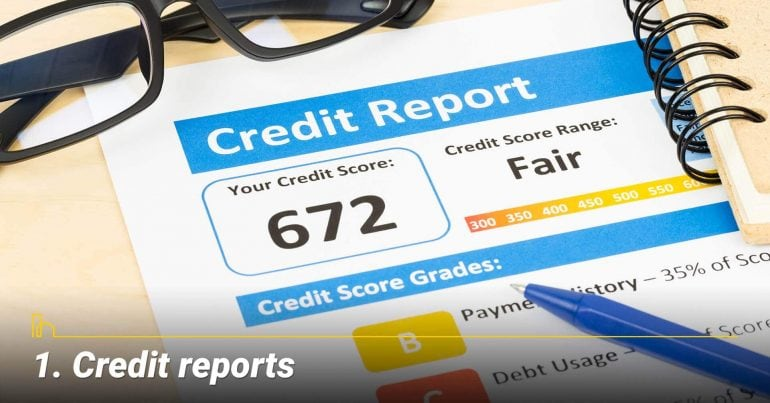 Credit reports, review your credit reports