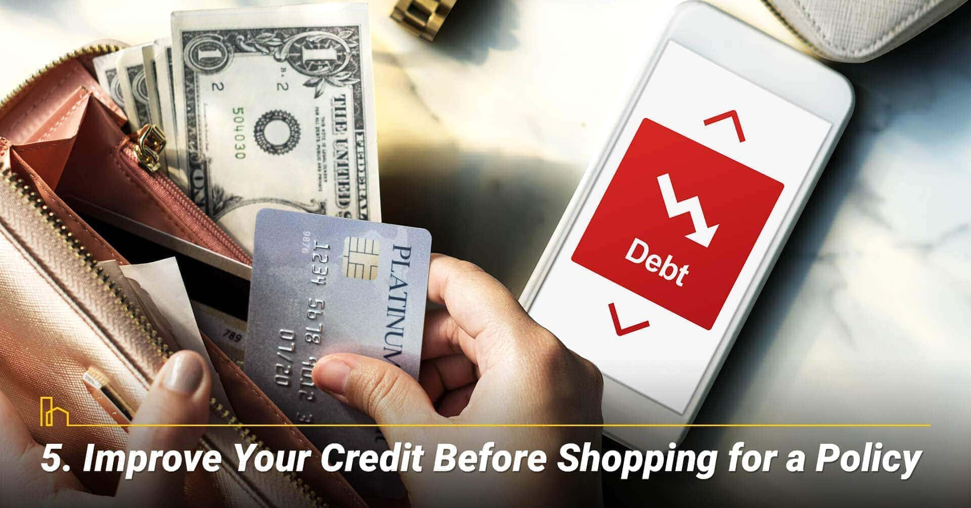 Improve Your Credit Before Shopping for a Policy, improve your credit score for better rate