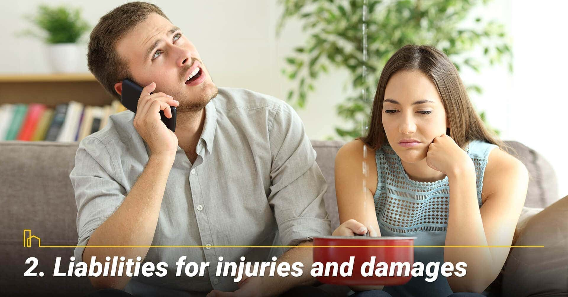 Liabilities for injuries and damages, accountable for damages