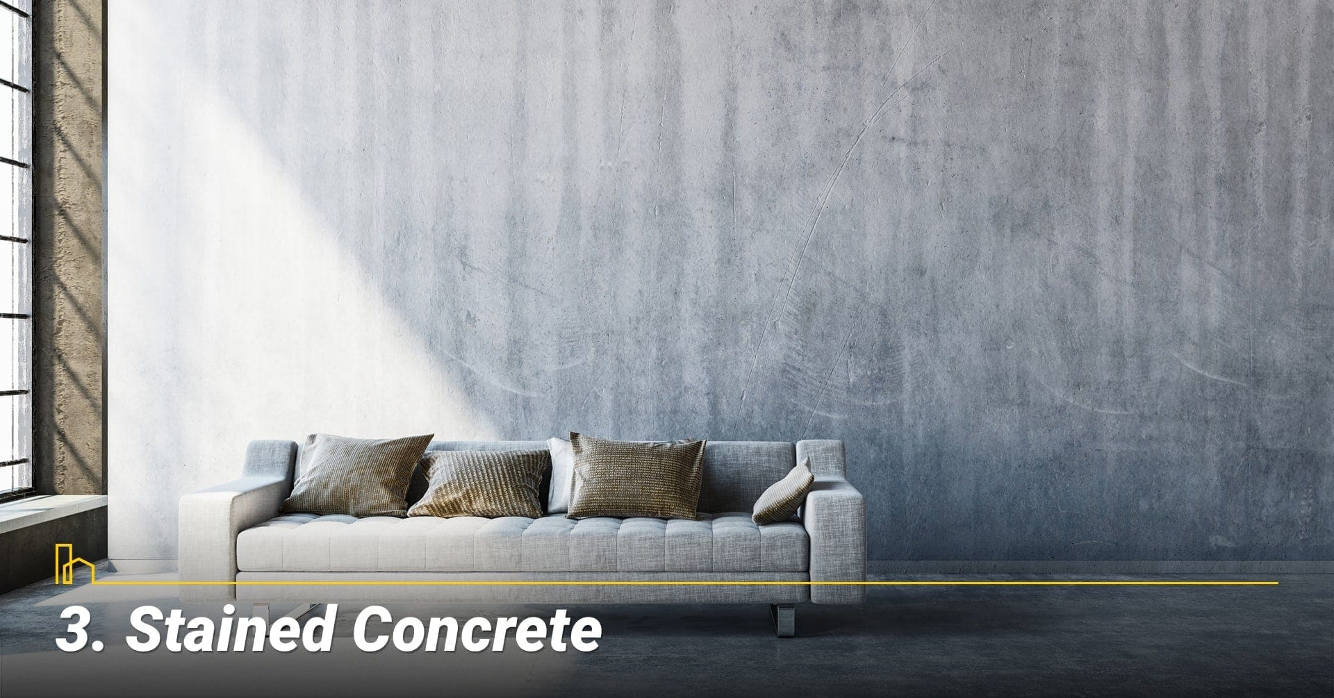 Stained Concrete, cover your floor with concrete