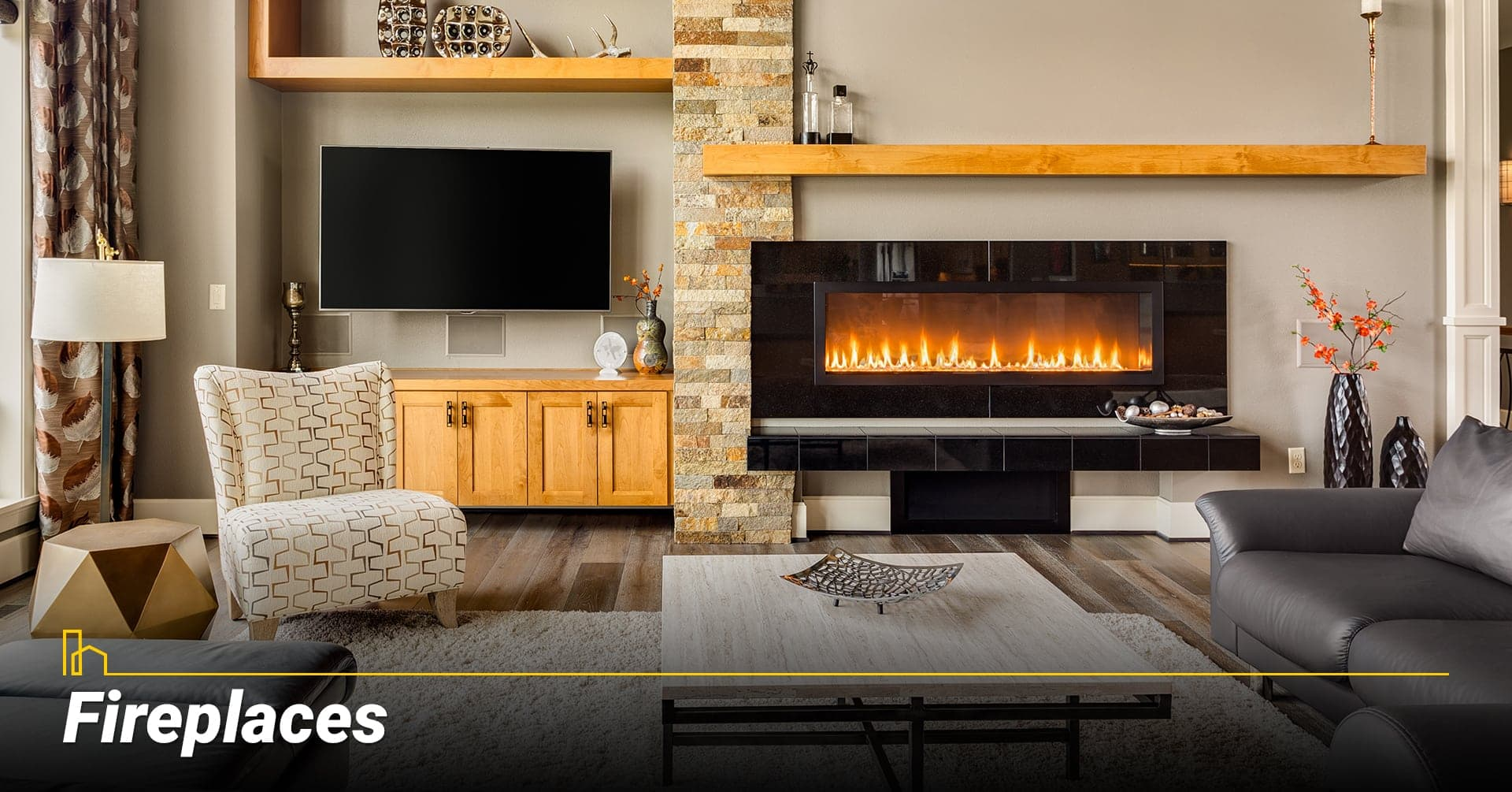 Fireplaces, heat your home with a fireplace