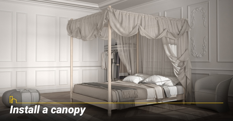 Install a canopy