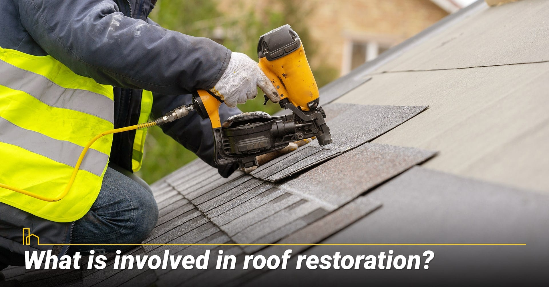 What is involved in roof restoration? steps in roof restoration
